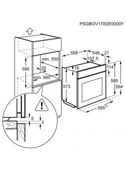 Horno ELECTROLUX EOB3430DOX