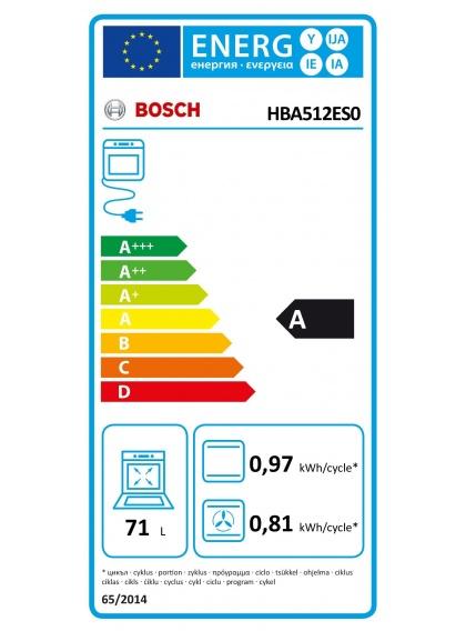 Horno Multifunción BOSCH HBA512ES0 - Domesticos