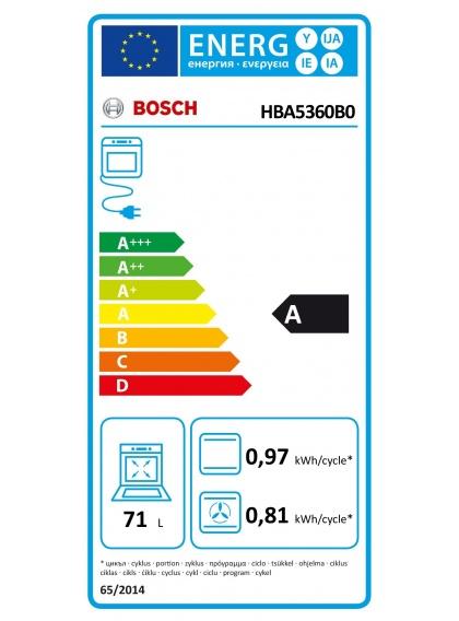 Horno Multifunción BOSCH HBA5360B0 - Domesticos