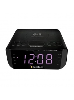 Radio Despertador SUNSTECH FRD50BTWCBK