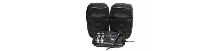 Altavoces con Mesa DJ